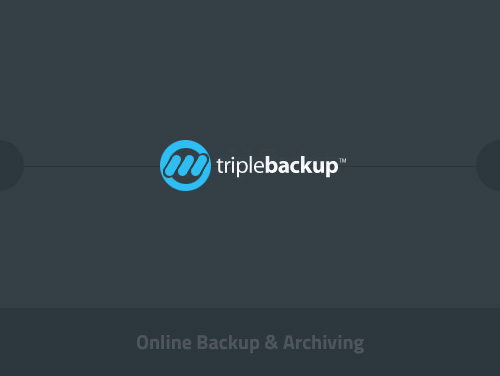 portfolio thumbnail for Triple Backup website